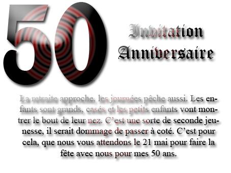 modele invitation anniversaire gratuit 50 ans document online. Black Bedroom Furniture Sets. Home Design Ideas