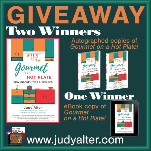 Gourmet on a Hot Plate giveaway graphic