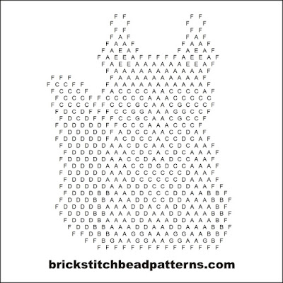 Free brick stitch seed bead earring pattern letter chart