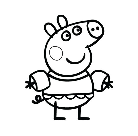 Dibujos para colorear peppa pig para pintar for Peppa pig disegni da colorare