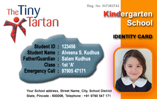 school id badge template - id cards student id card free template