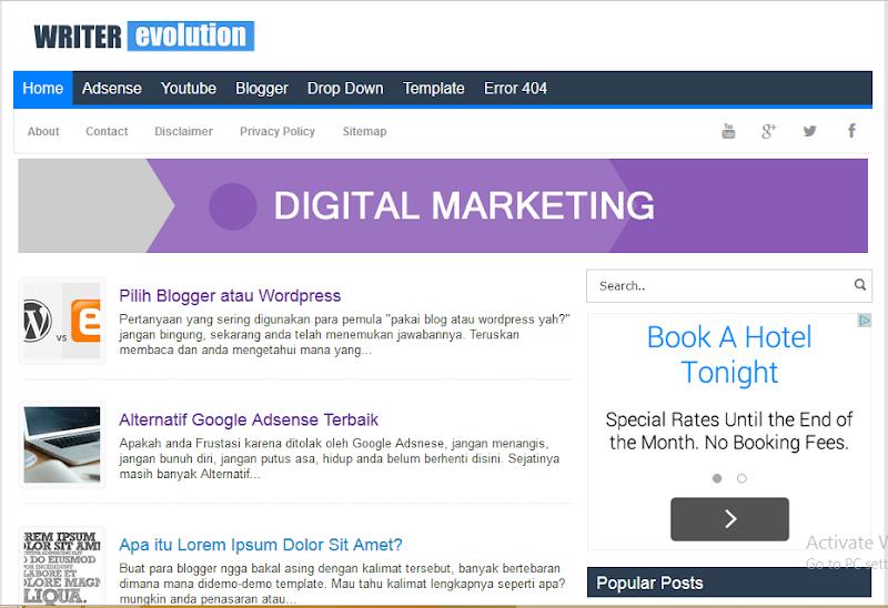 Adsense Blogger Template Google