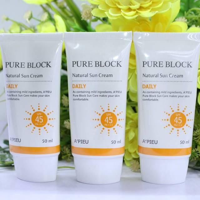 sử dụng kem chong nang apieu pure block