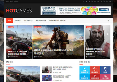 Hot Games Blogger Template