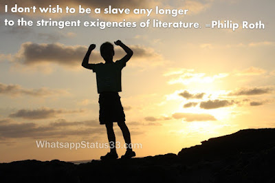 I don't wish to be a slave any longer