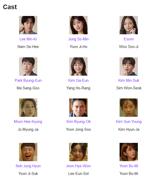 Because This Is My First Life K-Drama Cast