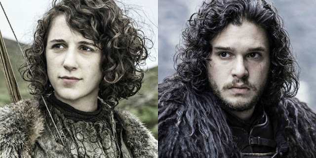 Jon Snow and Meera Reed