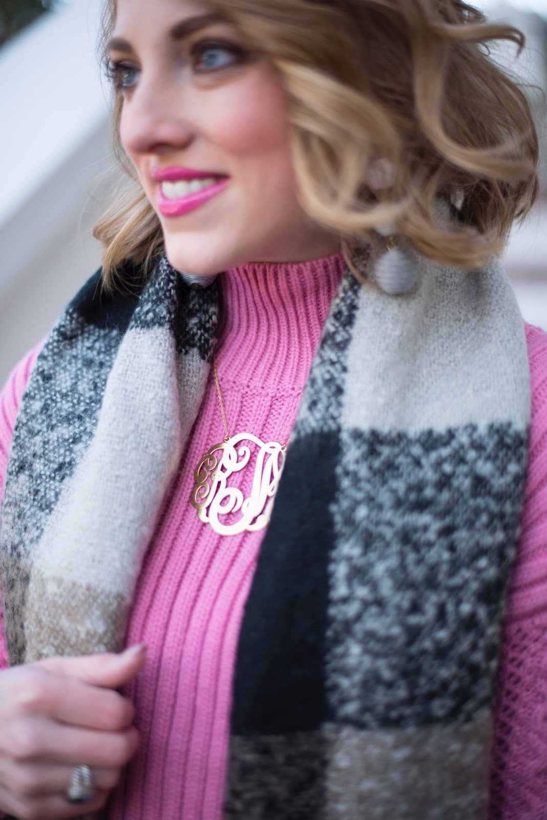 Monogram Necklace - Something Delightful Blog