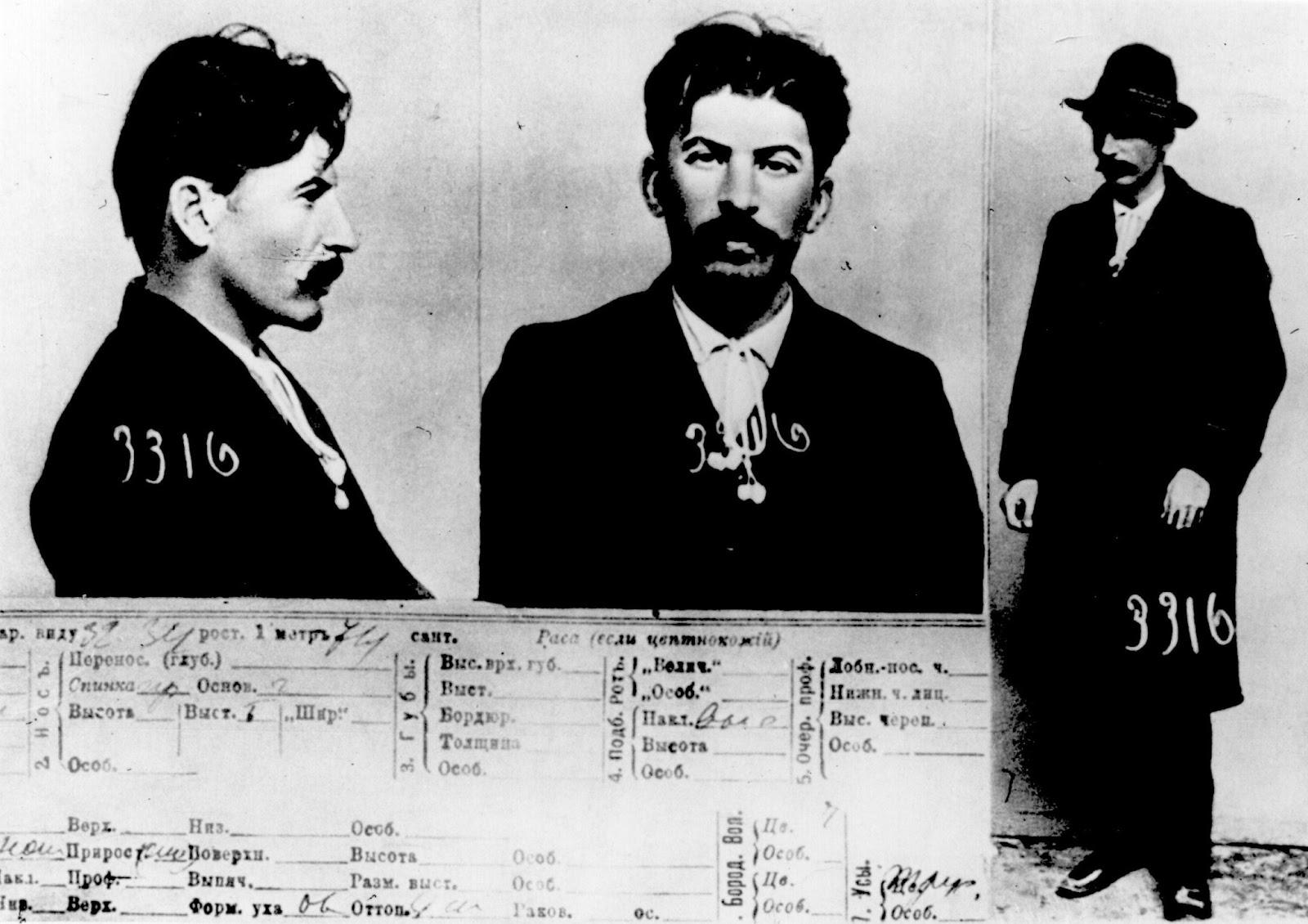 Mugshot of Joseph Stalin held by Okhrana: the Tsarist Secret Police, 1911