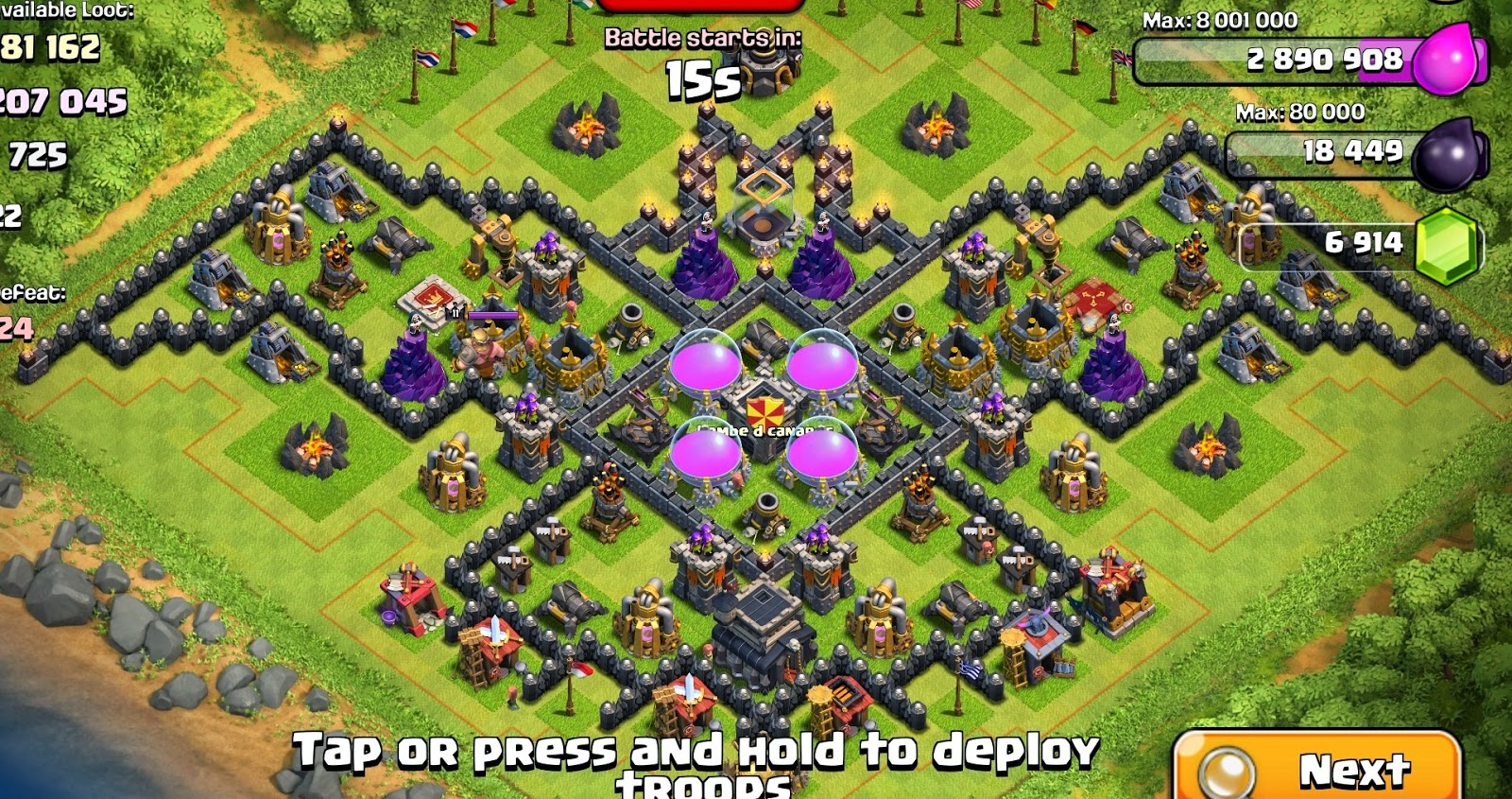 Clash of clans best town hall 8 southern teaser trophy base hestia