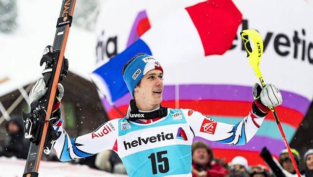 Clement Noel Wins Wengen Slalom