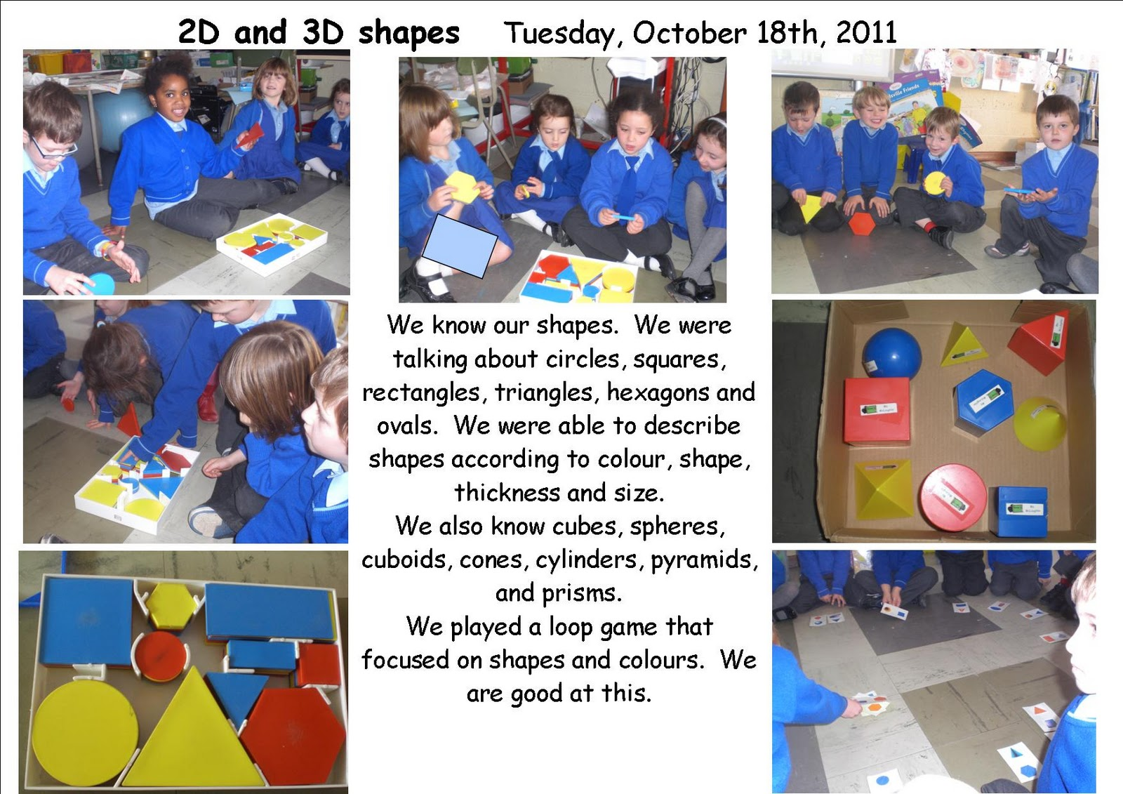 Maths Page 2d And 3d Shapes In Senior Infants