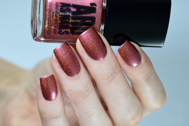 ard as nails bibliophobe swatch blogsquad red holographic