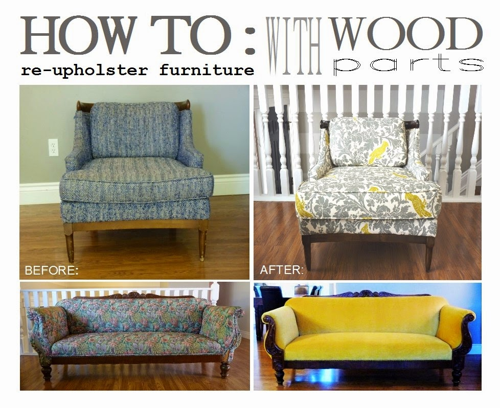 d i y d e s i g n How to ReUpholster Furniture with Wood