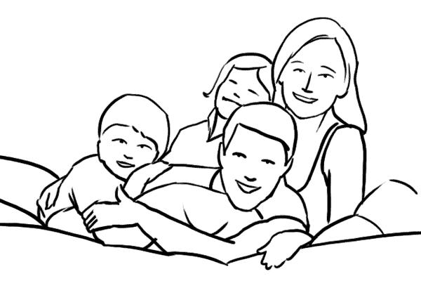 دليل أوضاع تصوير الأسرة بالصور 7