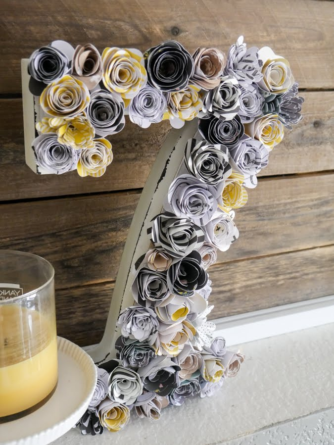 Easy Home Decor with Rolled Flowers by Jamie Pate | @jamiepate