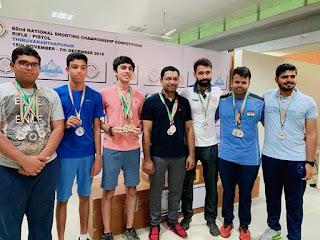 केरल में नैशनल शूटिंग चैम्पियनशिप में पुष्पांजलि राणा, शौर्य सरीन और अर्पित गोयल समेत दिल्ली के निशानेबाज़ों का जलवा