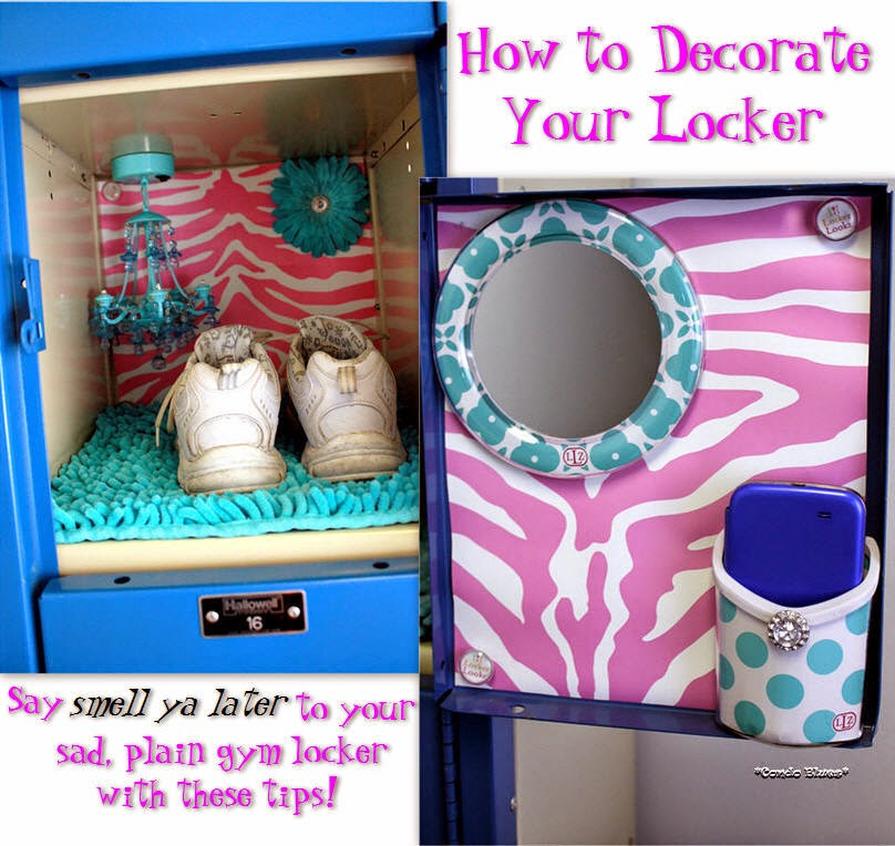 school and gym locker removable decorating ideas