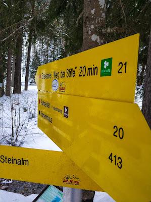 Nachtrodeln und Winterwandern in Saalfelden-Leogang  im Salzburgerland  Winterwanderung zur Einsiedelei  Nachtrodeln am Biberg 05