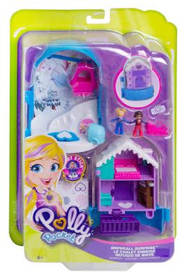 Toys : POLLY POCKET Refugio de nieve : Cofre de muñecas  Producto Oficial 2018   Mattel FRY37   A partir de 4 años  COMPRAR ESTE JUGUETE