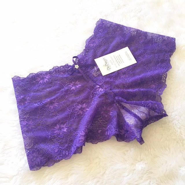 lingerie roxa