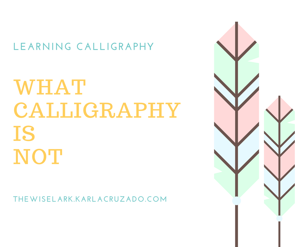 what calligraphy is not