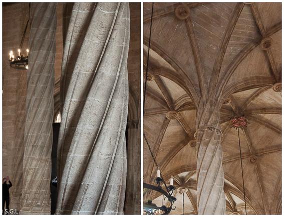 Detalle columnas Lonja de la seda de Valencia