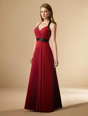 modelo de vestido para madrinhas de casamento vermelho