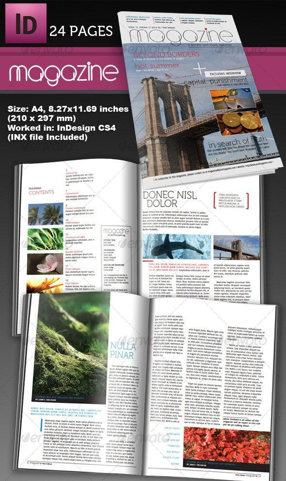 Cover Letter Templates » indesign magazine template download ...