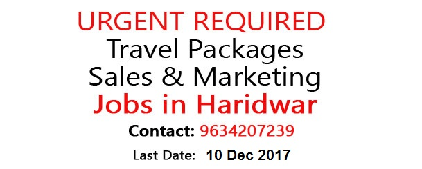 Walk -in Interview  Urgent Required Female Candidates For Online Travel Packages Sale... Jobs in Haridwar