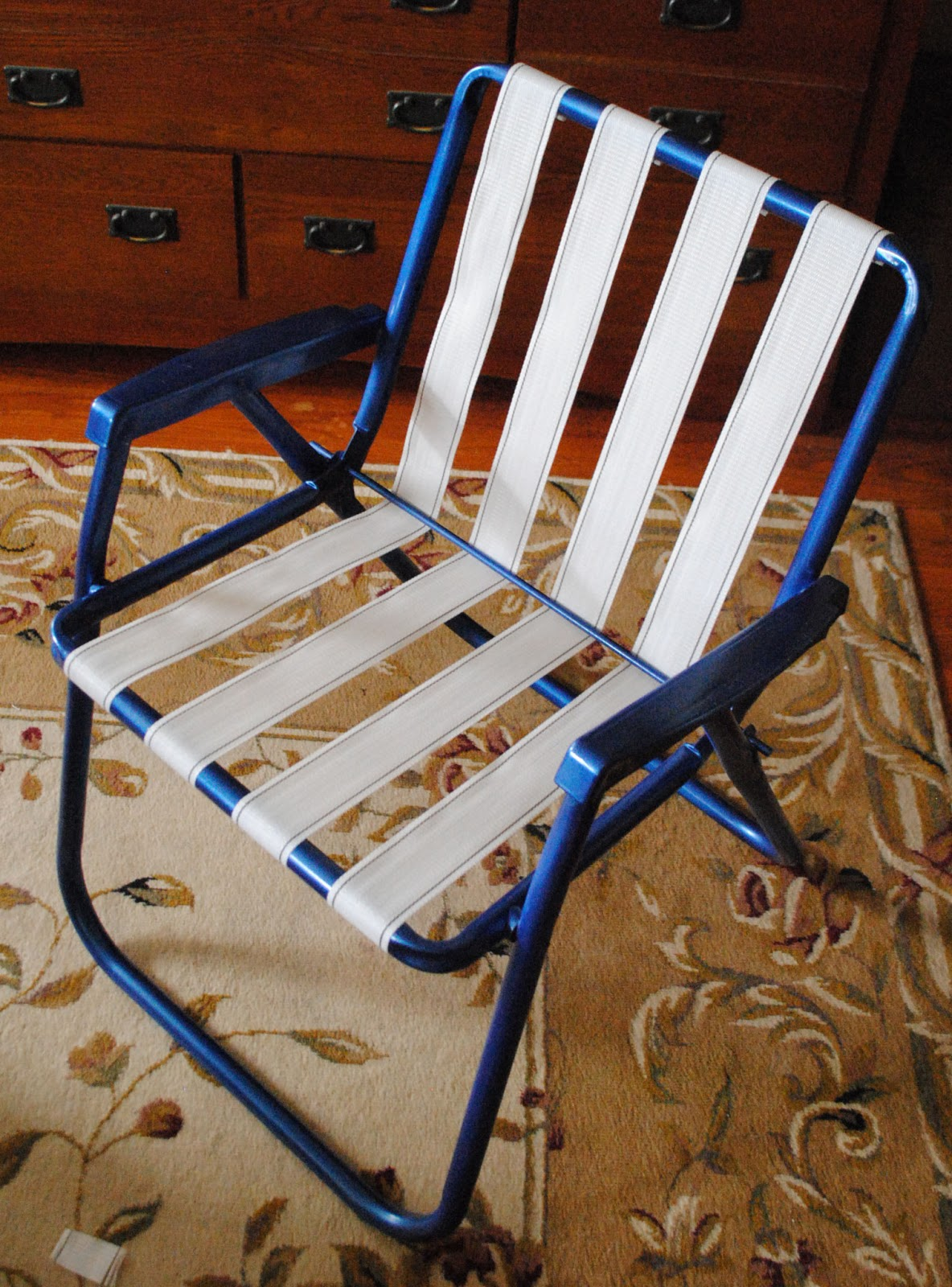 rewebbing a chair big joes chairs one day at time lawn makeover