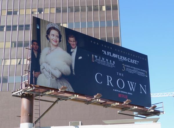 Crown SAG awards consideration billboard