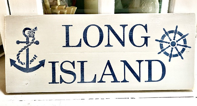 stenciled long island sign