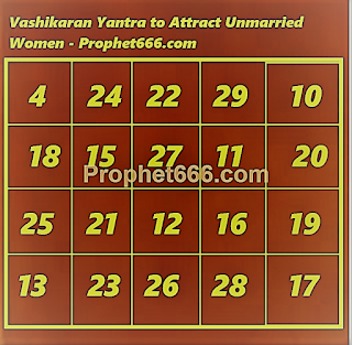 Islamic Vashikaran Yantra to Attract Unmarried Women and Marry them