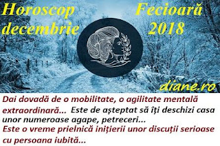 Horoscop Fecioară decembrie 2018