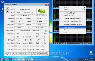 NVIDIA Inspector download- how graphic card name, GPU, Revision, BIOS version, Device ID, Subvendor, ROPs, Shaders, PCle Interface, Bus Width, Memory Size, Mem Type, Driver Version, Temperature, Power, Voltage, Fan, Speed, P-Stat, GPU Load, MCU, VPU, Current Clock, Memory, Est Max, GPU Clock, Boost and Default Clock