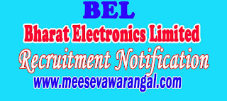 Bharat Electronics Limited BEL Recruitment Notification 2016
