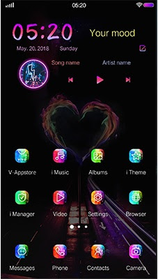 Heart of Flame Theme itz For Vivo