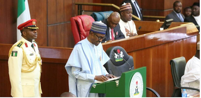 BREAKING: The world is watching us, says Buhari as Lawmakers chorused, Boo Buhari 'no!' as he lists achievement