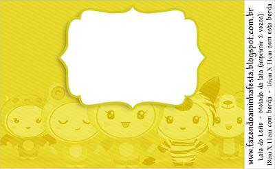 Fundo Amarelo Festa A Fantasia Infantil Kit Completo Com