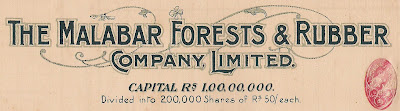 detail from a share in The Malabar Forest and Rubber Company