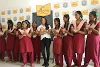 Actress Priya Anand in T Shirt with Students of Shiksha Movement Events 35.jpg