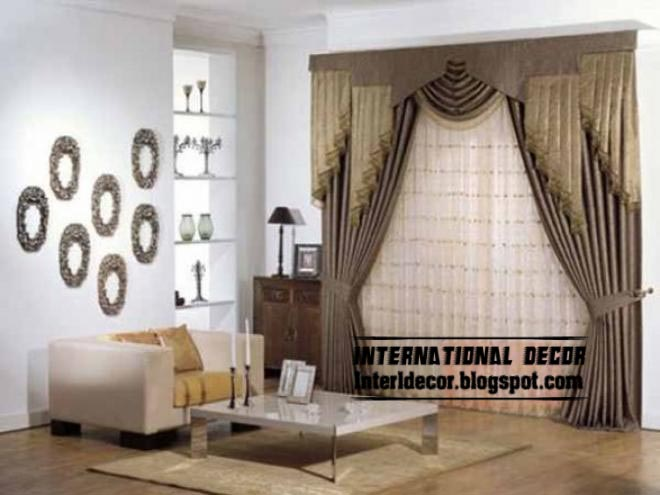Top Curtain Models And Unique Draperies Designs For Modern Living Room