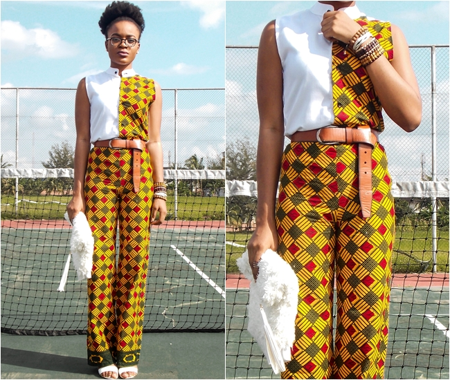 ankara two piece outfit