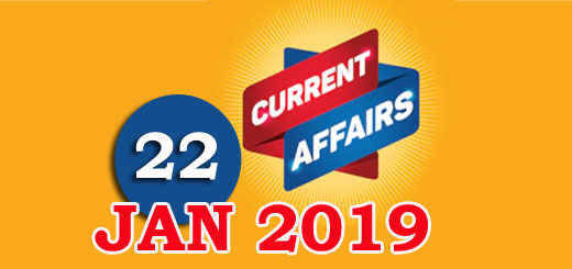 Kerala PSC Daily Malayalam Current Affairs 22 Jan 2019