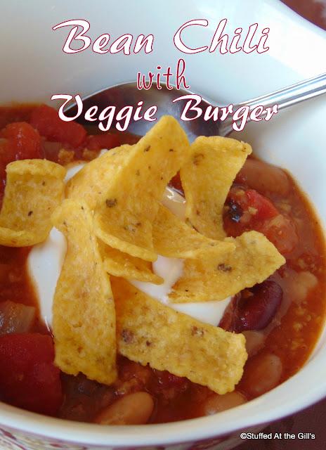 Bean Chili with Veggie Burger