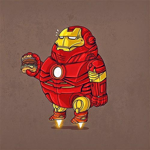 Fat Super Hero Gemuk - marvel Fat Iron Man