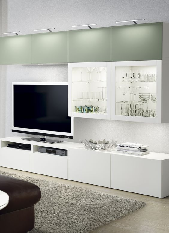 Decoraci n 15 composiciones de muebles tv con la serie for Besta fotos