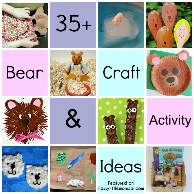 35+ bear theme art craft and activity ideas