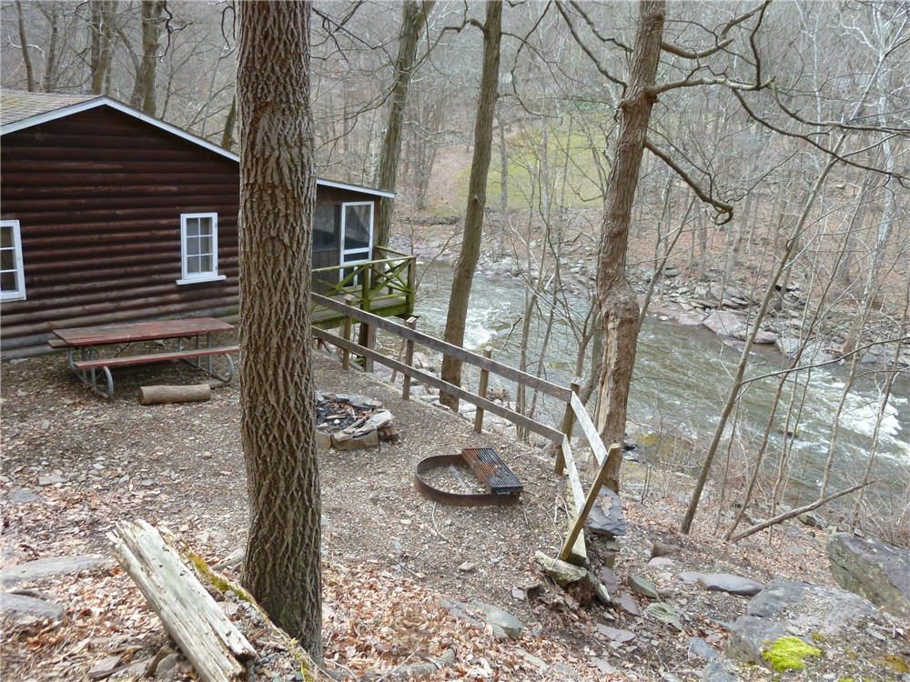 Beautiful TRACK #91: Looking Back At Cabin #4 Right At Tohickon Creek.
